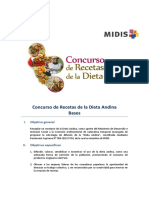 Bases de Concurso Dieta Andina