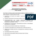 Ev-cal-fo-05 Informe de Revision Por La Direccion Del Sgc 2014