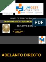 Val. y Liq. de Obra - Adelanto Directo - Unigest Rev 0