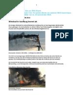 Bilder von brennenden Windkraftanlagen