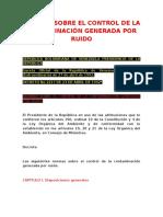 NORMAS SOBRE EL CONTROL DE LA CONTAMINACIÓN GENERADA POR RUIDO