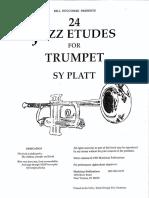 Sy Platt - 24 Jazz Etudes for Trumpet.pdf