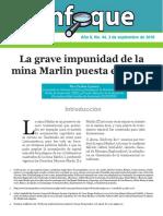 Enfoque No. 44 La Grave Impunidad de La Mina Marlin Puesta en Venta