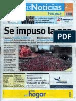 Últimas Noticias Vargas viernes  2 de septiembre  de  2016