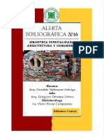 Alerta Bibliografica 2016-2