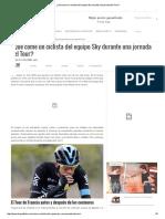 Qué Come Un Ciclista Del Equipo Sky Durante Una Jornada Del Tour