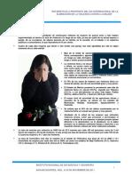 Estadísticas Sobre La Violencia en Contra de La Mujer