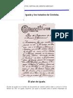 El Plan de Iguala y Tratados de Cordoba