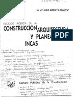 Agurto Calvo, Santiago - Construccion, Arquitectura y Planeamiento Incas
