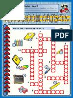 Classroom Objects CROSSWORDS.pdf