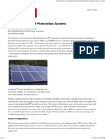 The Fundamentals of Photovoltaic Systems