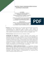Contrato de Gestão Com as Organizações Sociais - Pôster