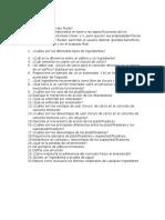 Tema Aditivos e Ingredientes( Preguntas)