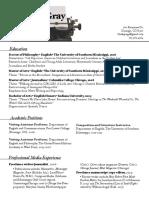 gray resume