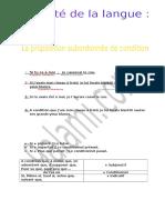 La Proposition Subordonné de Condition (1)