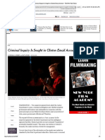 NYT - Criminal Inquiry is Sought in Clinton Email Account (7/23/15)