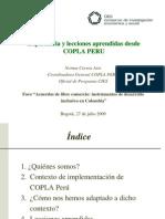 Lecciones aprendidas desde COPLA Perú