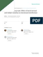 Emotional Stroop Task Effect of Word