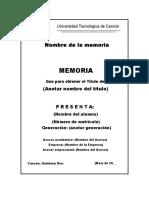 Plantilla Memoria Tsu 2016