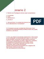 Cuestionario 2