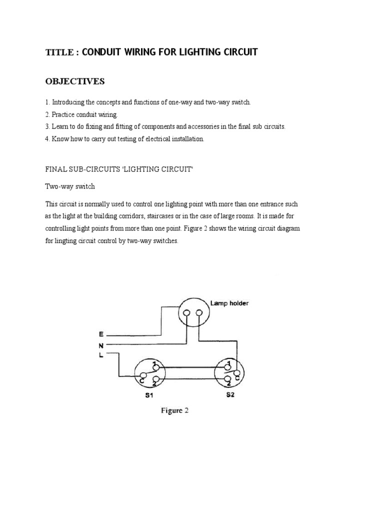 Staircase Wiring Circuit Diagram Using Two Way Switch ...