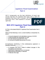 UOP E Assignments - BUS 475 Capstone Final Examination Part 2 Answers Free