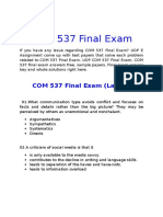 UOP E Assignments - COM 537 Final Exam Answers Free