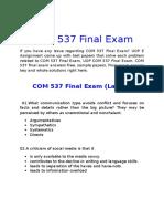 UOP E Assignments - COM 537 Final Exam Answers Free