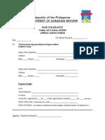 DAR Clearance Application Form (Blank)