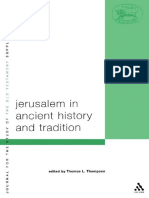 (Journal for the Study of the Old Testament Supplement Series 381) Thomas L. Thompson-Jerusalem in Ancient History and Tradition (JSOT Supplement Series)-T & T Clark International (2004).pdf