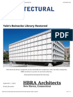 Yale's Beinecke Library Restored | 2016-09-01 | Architectural Record