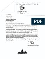 State Rep Terry Canales Clemency Letter for Jeff Wood