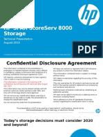 HP 3PAR StoreServ 8000 Technical Presentation 080615