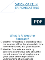 Application of It in Weather Forecasting