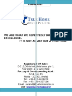 Company Profile True Home Decor Pvt Ltd 1-1-1