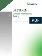 Heineken NV Global Packaging Policy