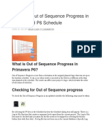 Handling Out of Sequence Progress in an Updated P6 Schedule