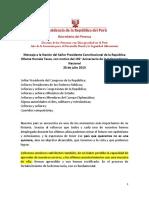 Mensaje a La Nación 2013.