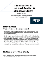 Nominalisation in English and Arabic