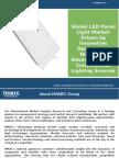 LED Panel Light Market - Global Industry Analysis, Trends, Plant Setup & Opportunities