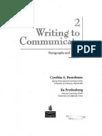 Writing to Communicate Cynthia