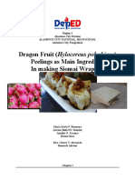 Dragon Fruit Peelings as an additive ingredient in making siomai wrapper
