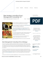 Best Strategy Consulting Firms
