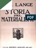 Lange Friederich Albert Storia Del Materialismo Vol II