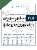 August Liederkalender