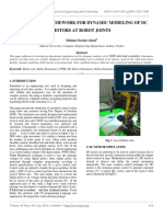 A Software Framework for Dynamic Modeling of Dc Motors at Robot Joints