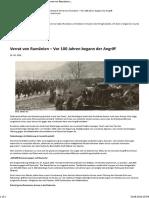 Was in Den Geschichtsbüchern Verschwand Verrat Von Rumänien – Vor 100 Jahren Begann Der Angriff