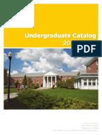 Undergraduate catalogue