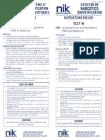 NIK Test W_Instructions