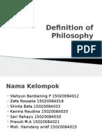 Definition of Philosophy Klompok 2